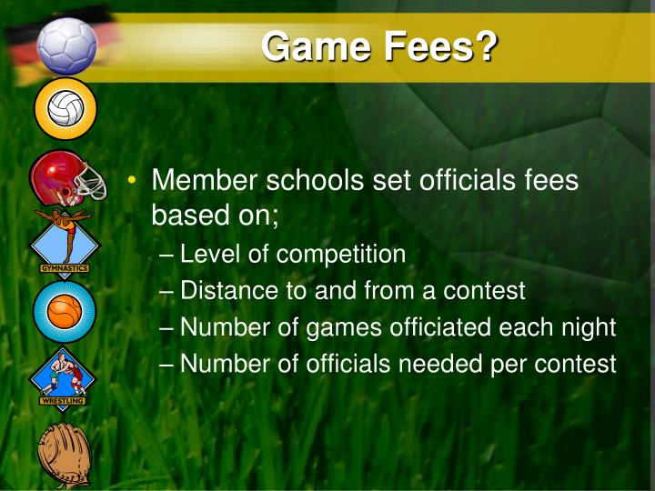 Game Fees?