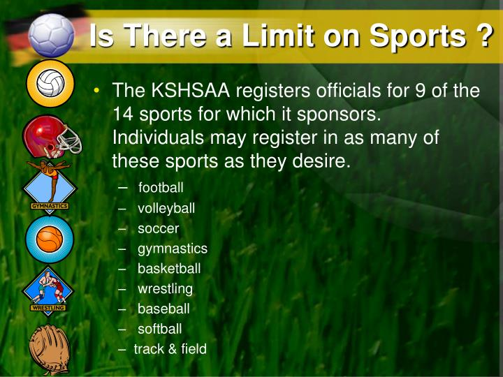 Is There a Limit on Sports ?