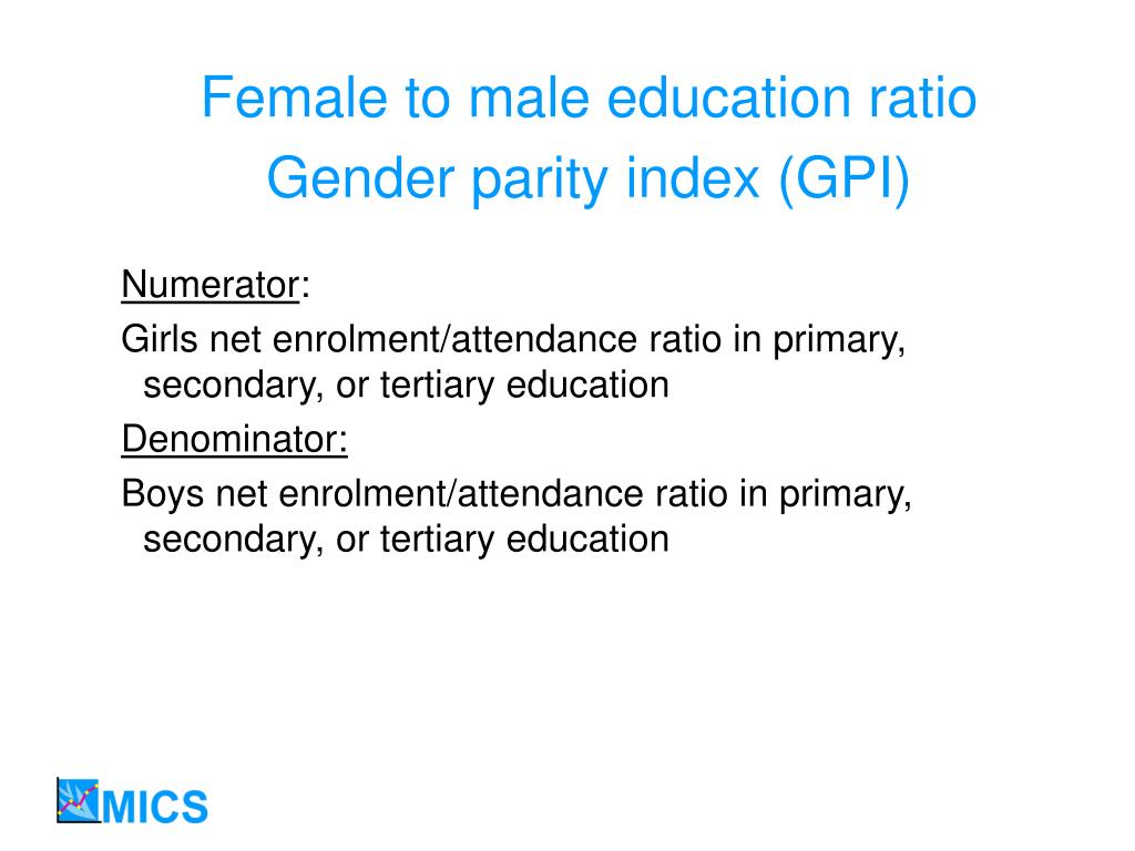 Female to male education ratio