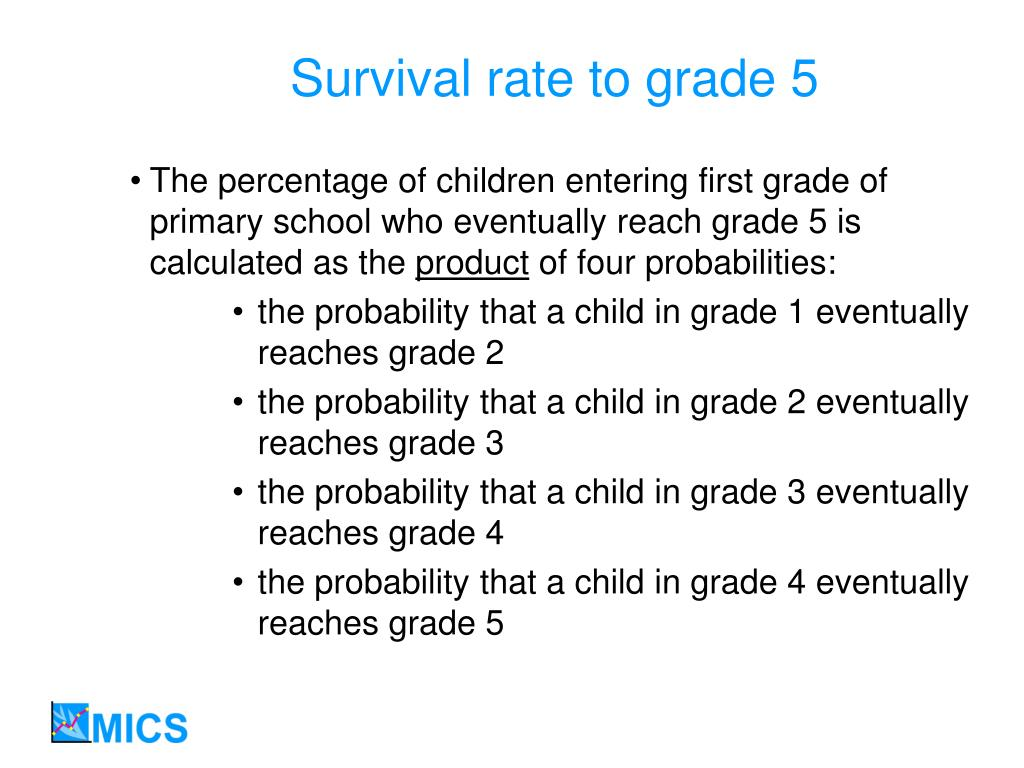 Survival rate to grade 5