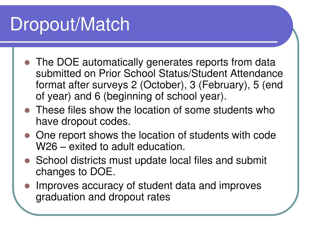 Dropout/Match
