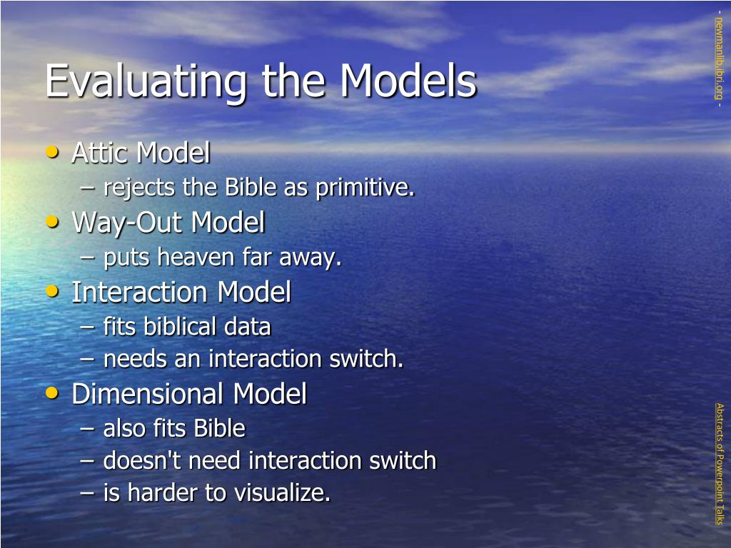 Evaluating the Models