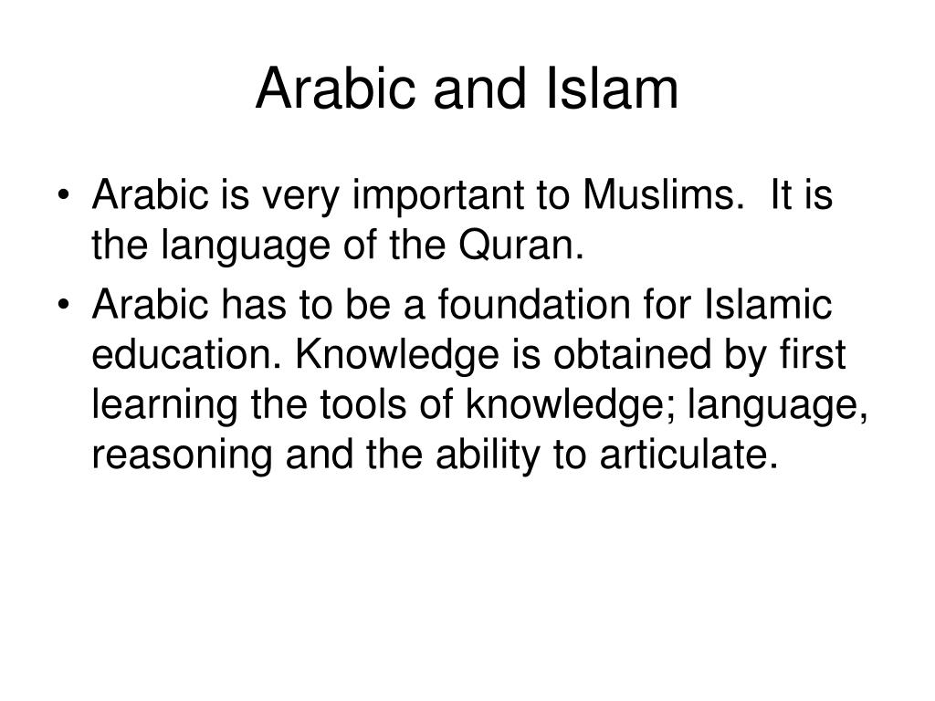 Arabic and Islam