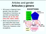 articles and gender art culos y g nero