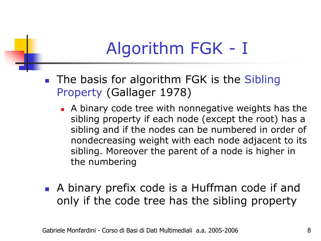 Algorithm FGK - I