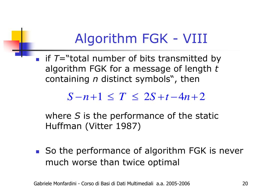 Algorithm FGK - VIII
