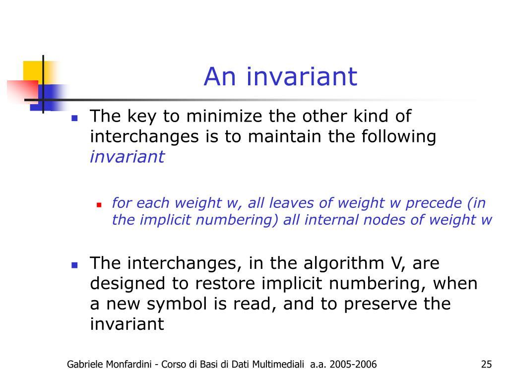 An invariant