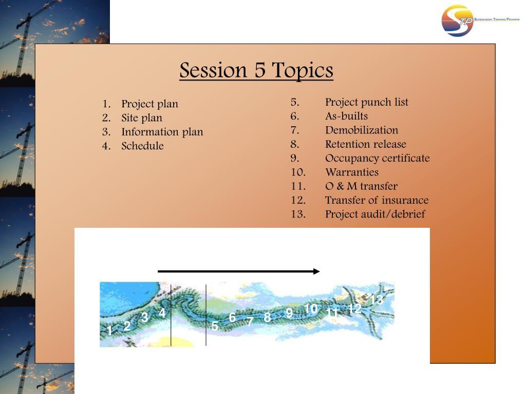 Session 5 Topics