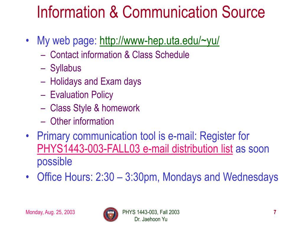 Information & Communication Source