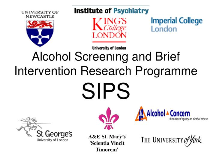 Alcohol Screening and Brief Intervention Research Programme