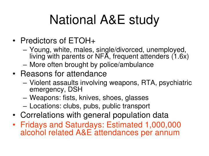 National A&E study