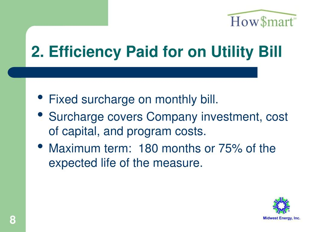 2. Efficiency Paid for on Utility Bill