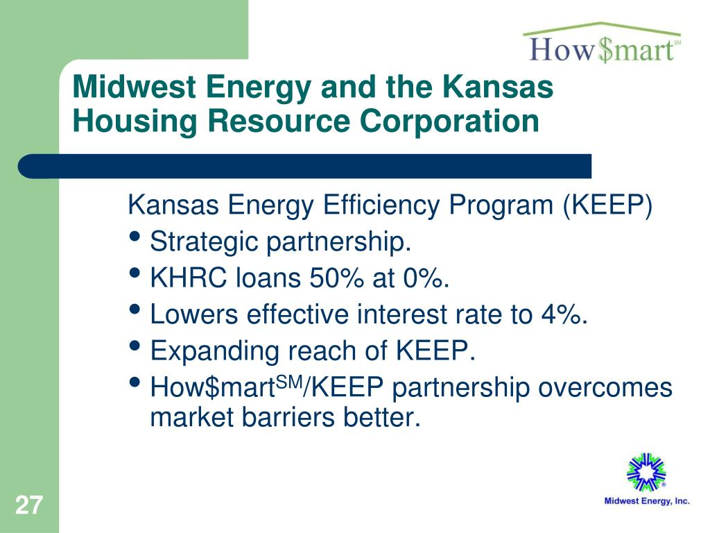Midwest Energy and the Kansas Housing Resource Corporation