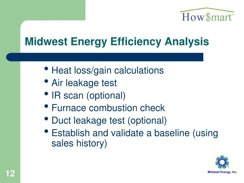 Midwest Energy Efficiency Analysis