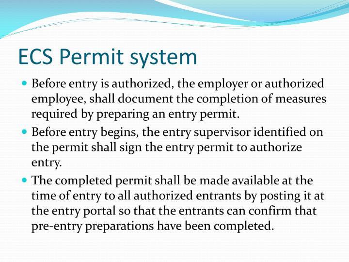 ECS Permit system