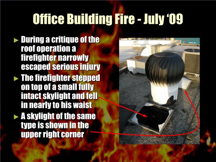 Office building fire july 092