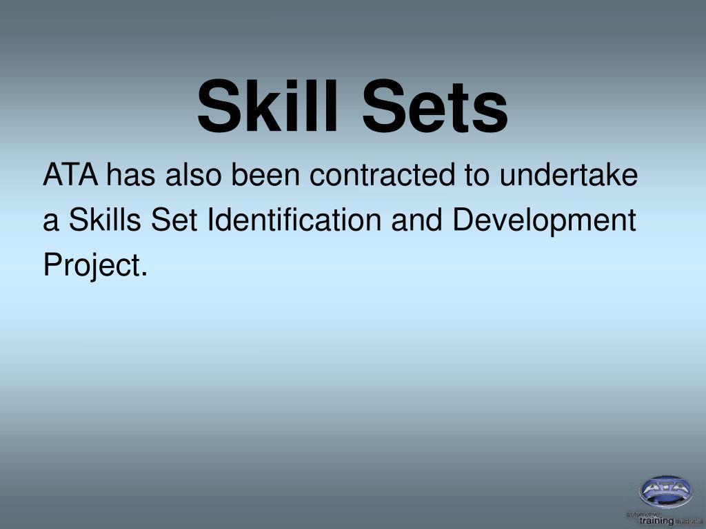 Skill Sets