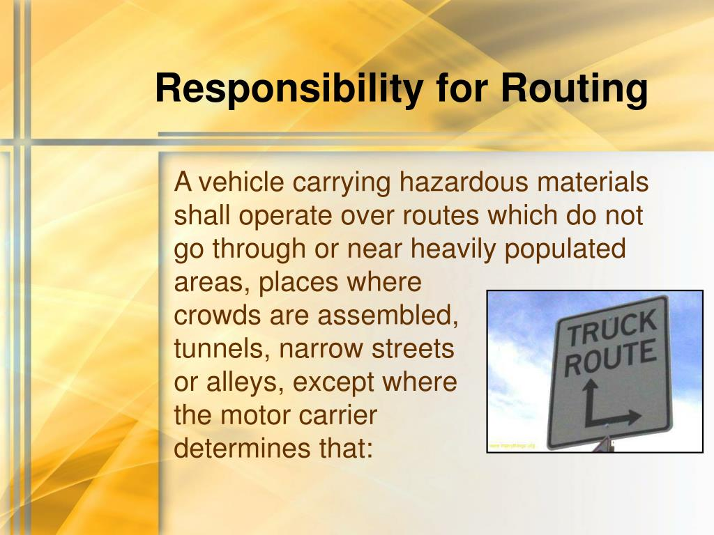 Responsibility for Routing