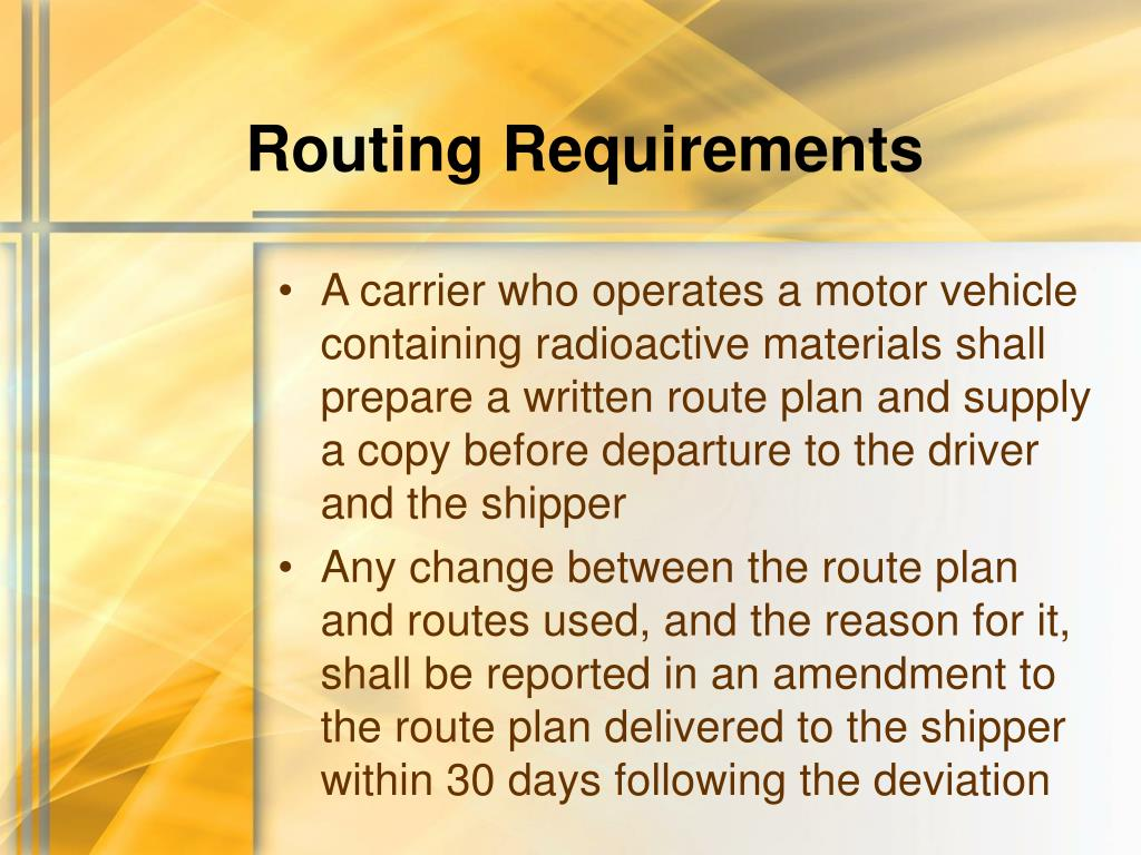 Routing Requirements