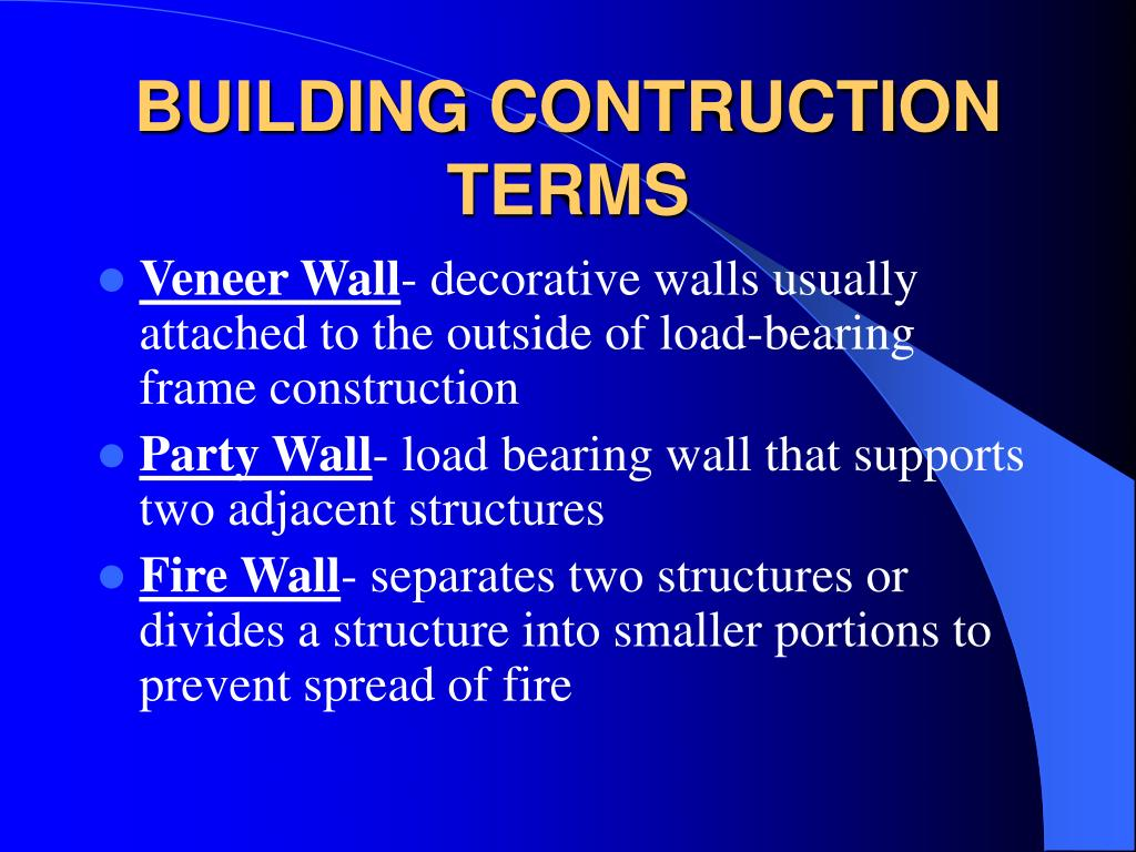 Ppt building construction powerpoint presentation id for Building terms