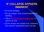if collapse appaers imminent