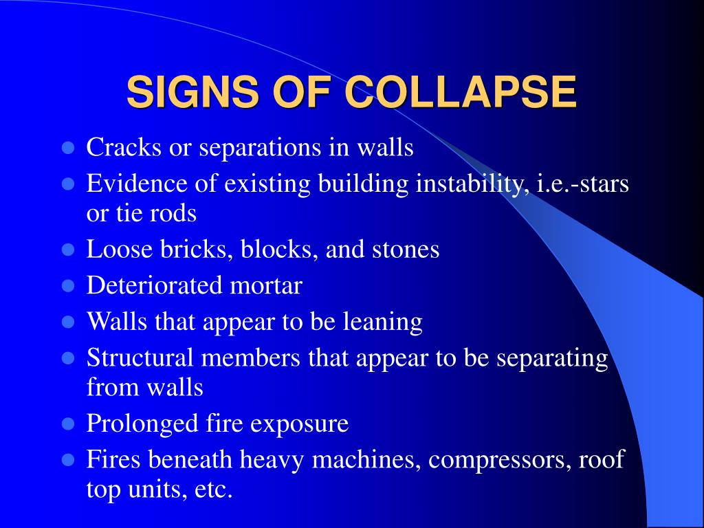 SIGNS OF COLLAPSE