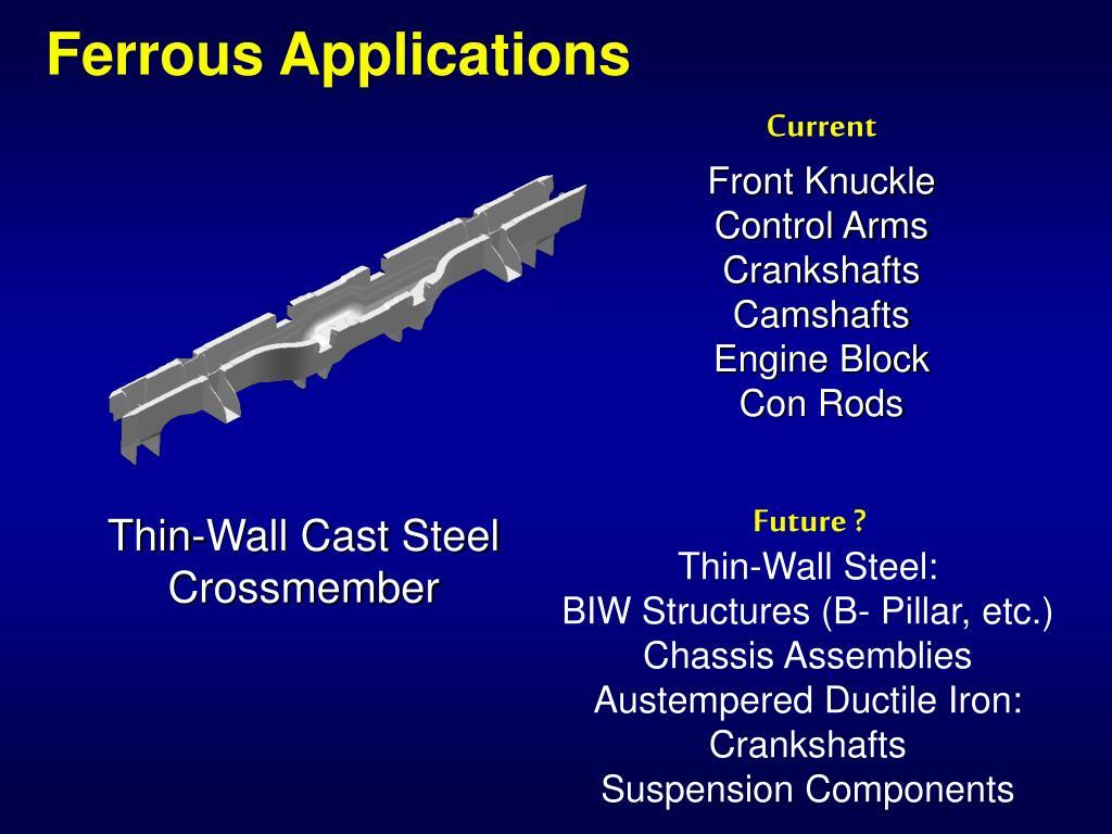 Ferrous Applications