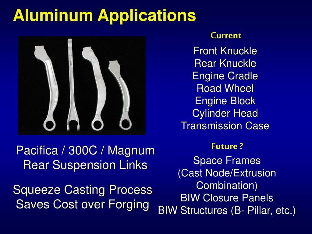 Aluminum Applications