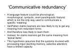 communicative redundancy