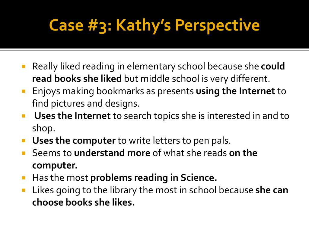 Case #3: Kathy's Perspective