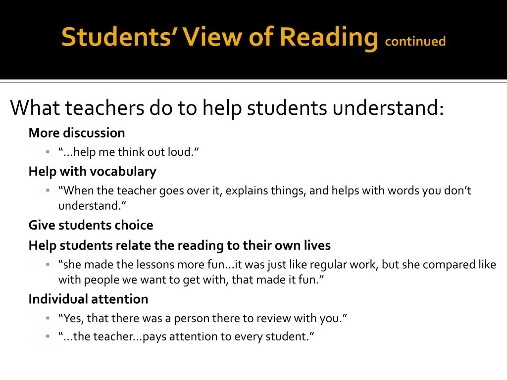 Students' View of Reading