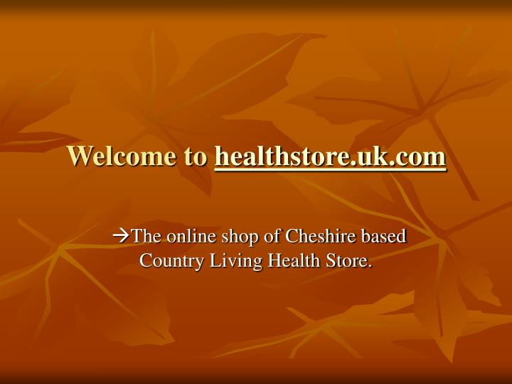 Welcome to healthstore uk com l.jpg