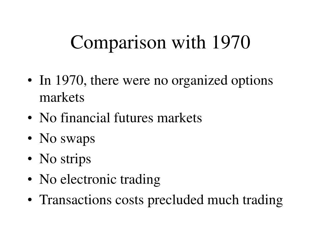 Comparison with 1970