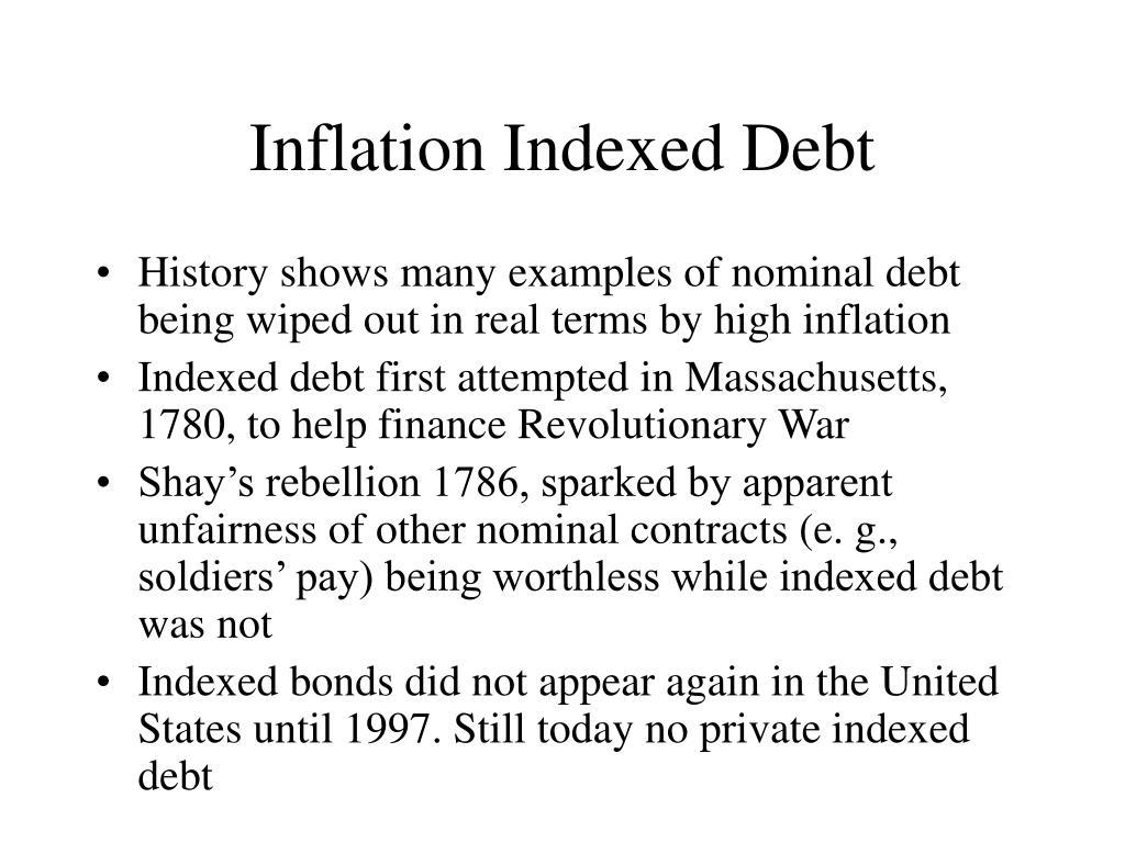 Inflation Indexed Debt