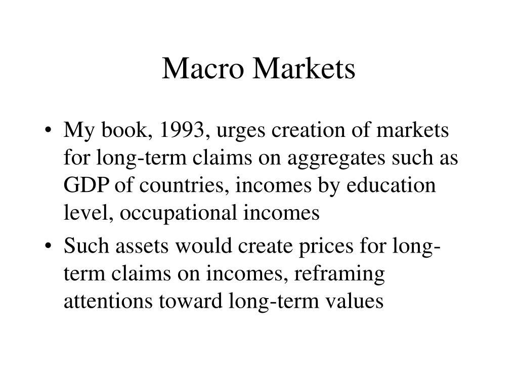 Macro Markets