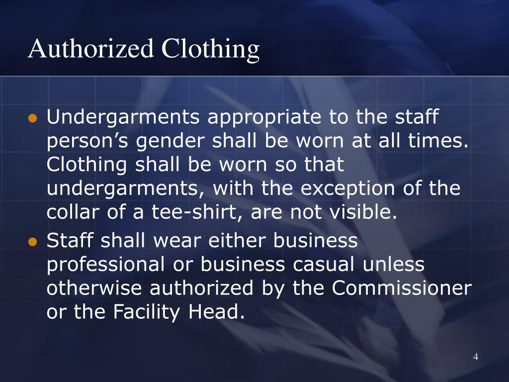 Authorized Clothing