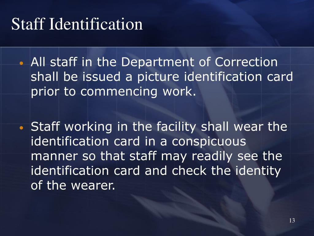 Staff Identification