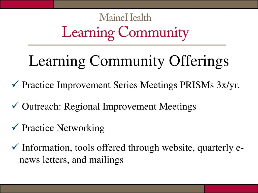 Learning Community Offerings
