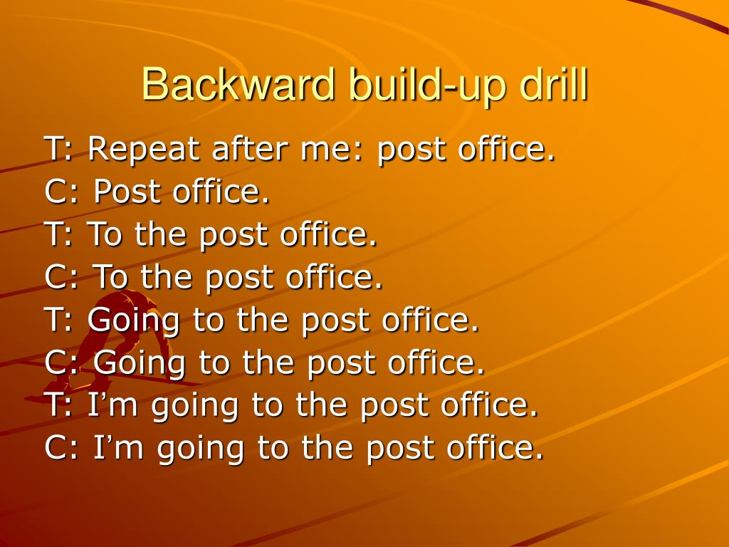 Backward build-up drill