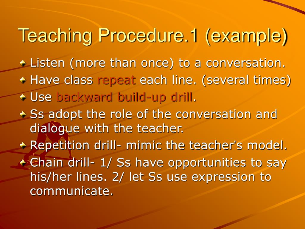 Teaching Procedure.1 (example)