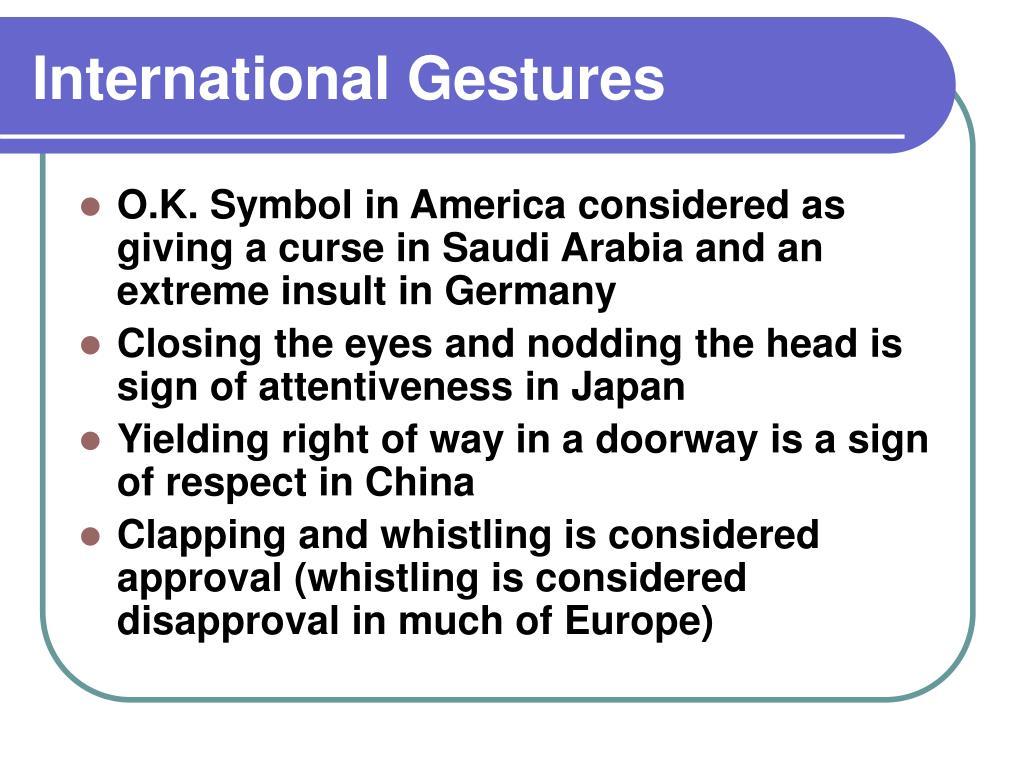 International Gestures