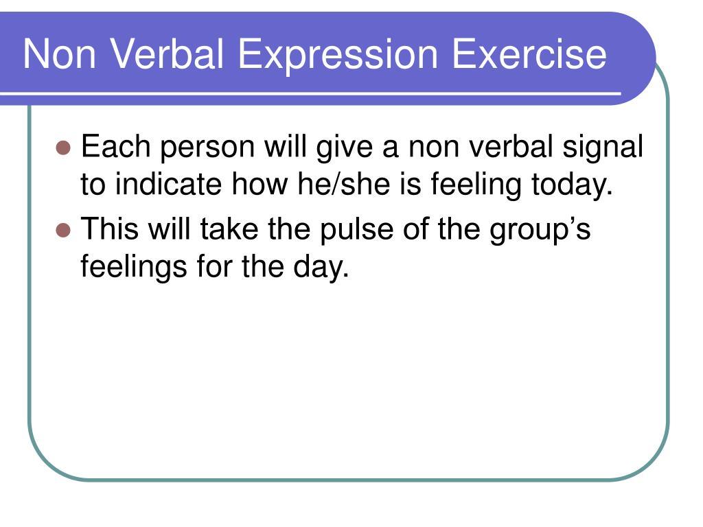Non Verbal Expression Exercise