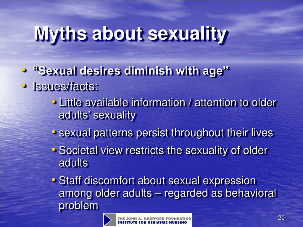 Myths about sexuality