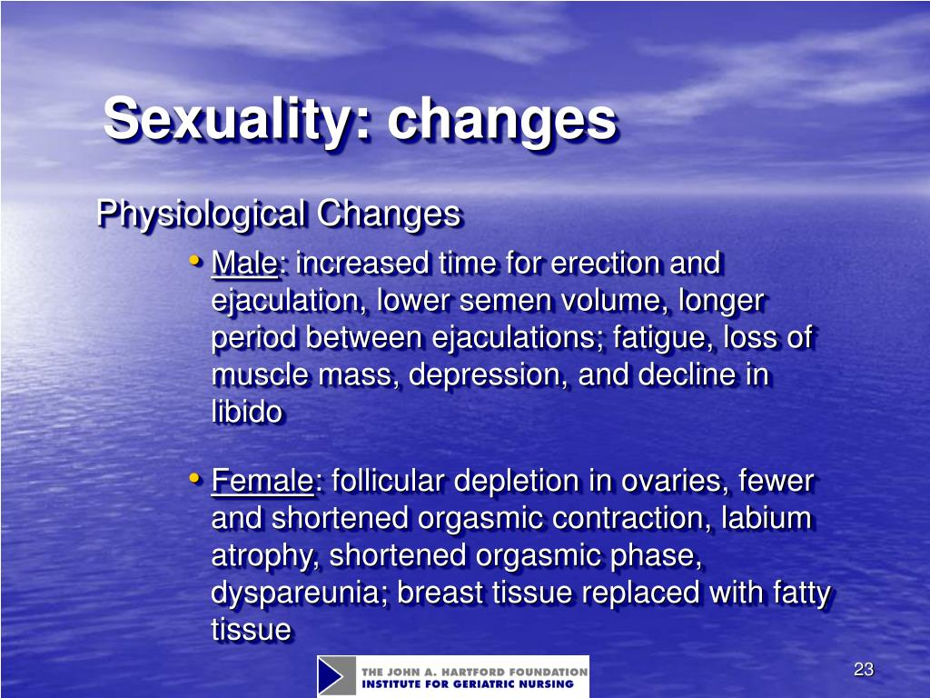 Sexuality: changes