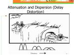 attenuation a nd dispersion delay distortion