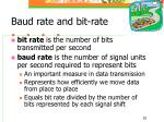 baud rate and bit rate