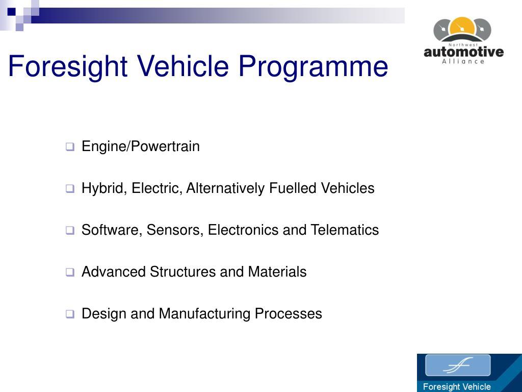 Foresight Vehicle Programme