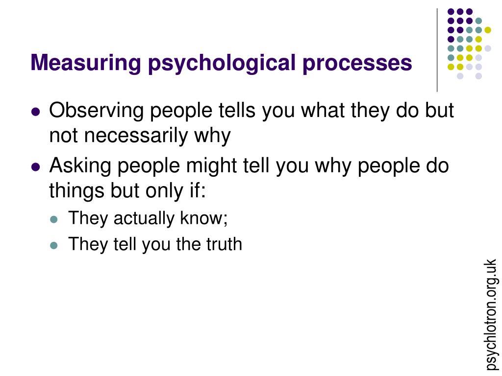 Measuring psychological processes