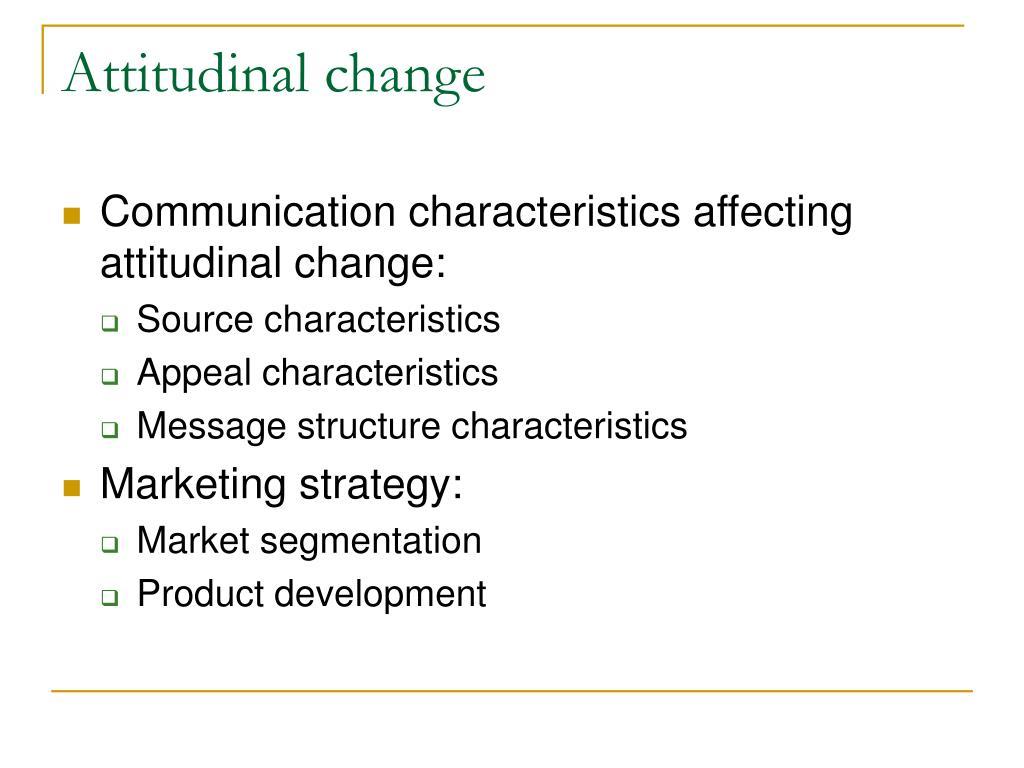 Attitudinal change