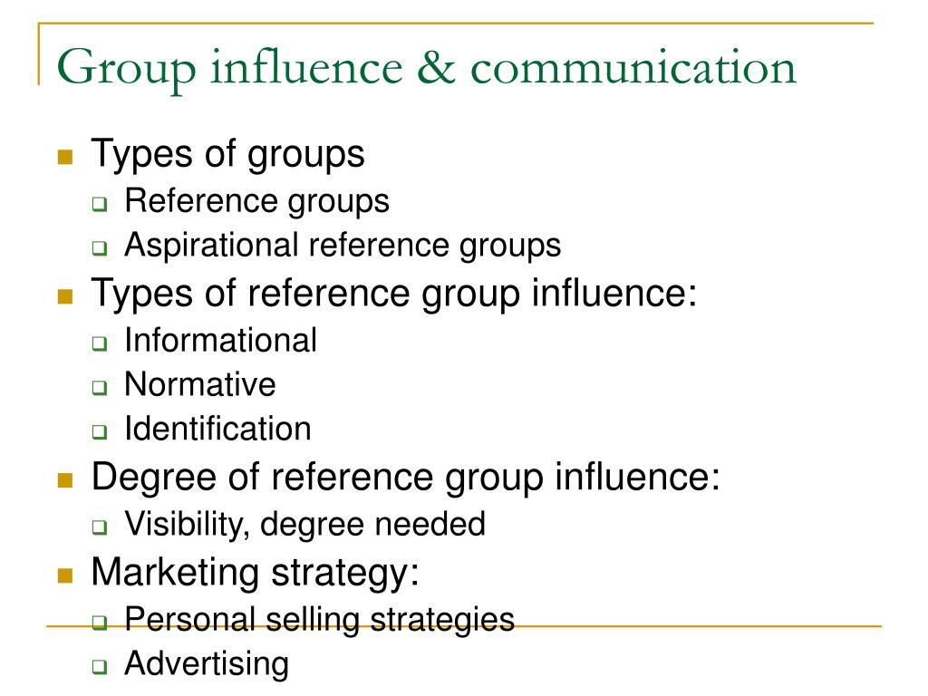 Group influence & communication